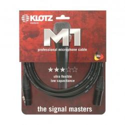 Cable micro XLR Klotz M1 Neutrik 10 metre