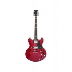 Guitare hollow body Sire H7 Seetrough Red