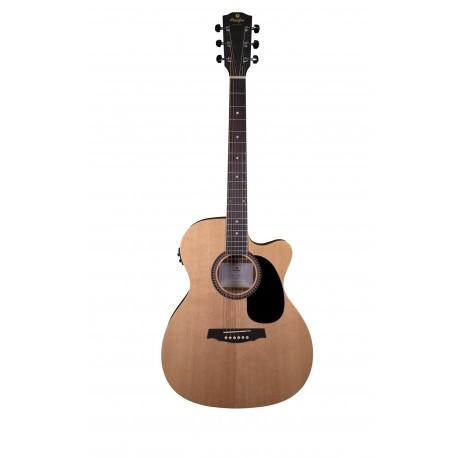 Guitare électro-acoustique Prodipe SA25 CEQ auditorium pan coupé