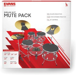 Pack de sourdines batterie Evans fusion 10-12-14